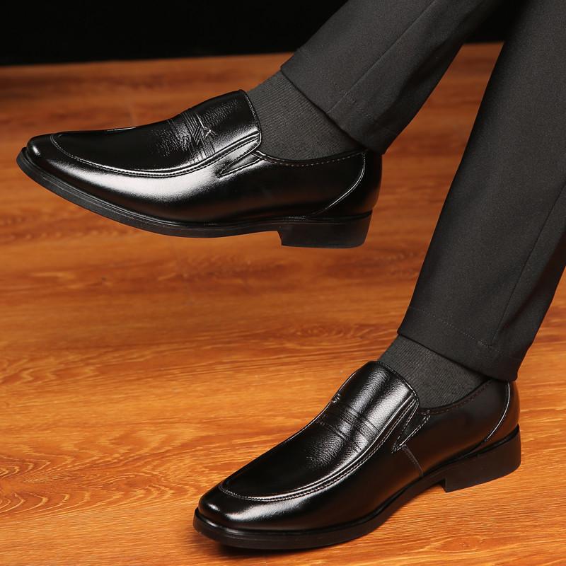 男士皮鞋冬季加绒保暖中老年真皮休闲冬天商务二棉鞋爸爸鞋子男鞋