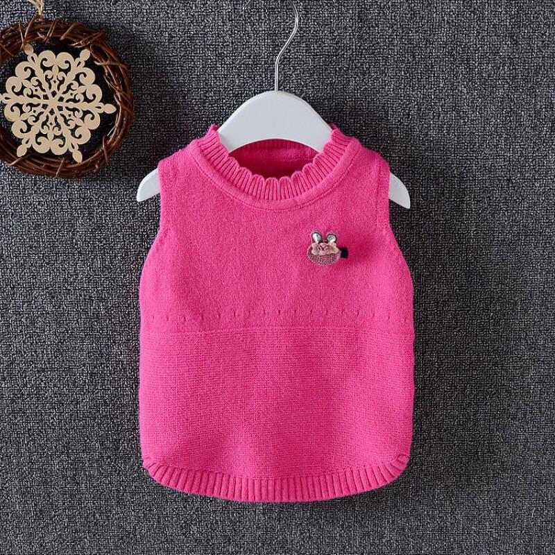 婴儿针织背心童装2017新款秋季儿童马甲女宝宝毛线上衣1-2-3岁潮r吊带