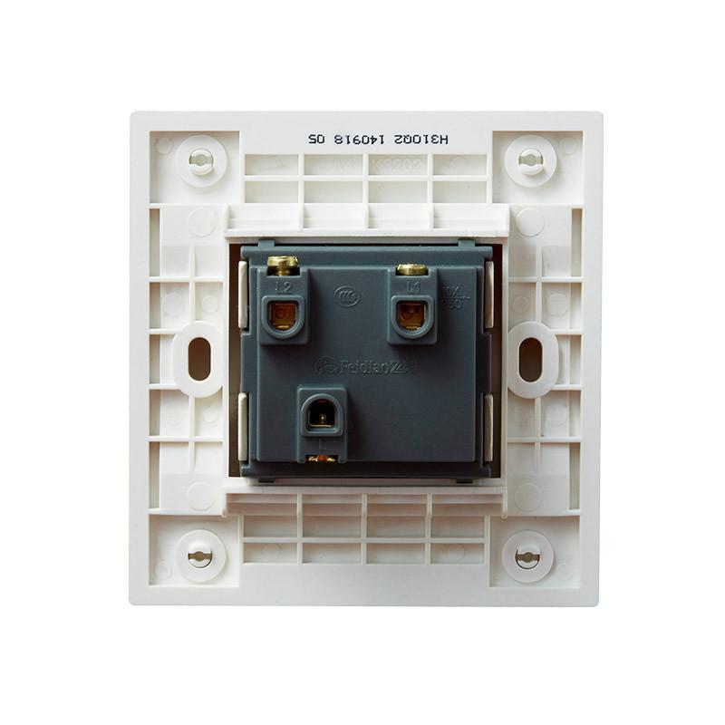 飞雕(feidiao)开关插座面板 双开单联开关 两开单控电源墙壁开关面板
