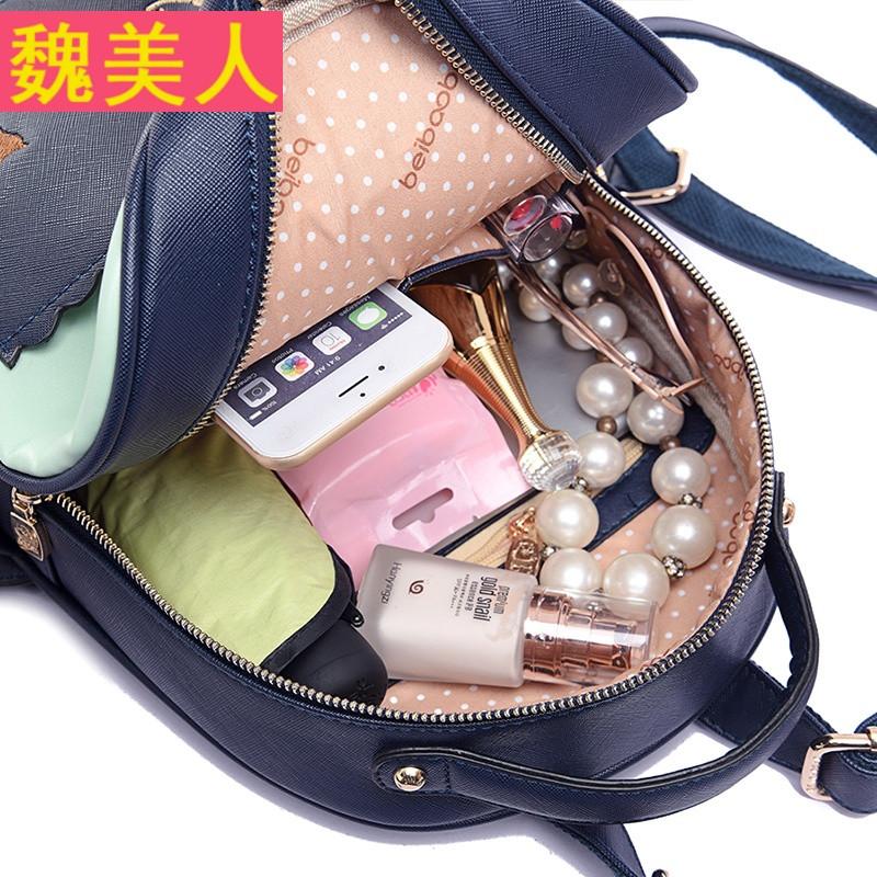 新款双肩包可爱学生书包学院风小猫背包韩版旅行包女包 x