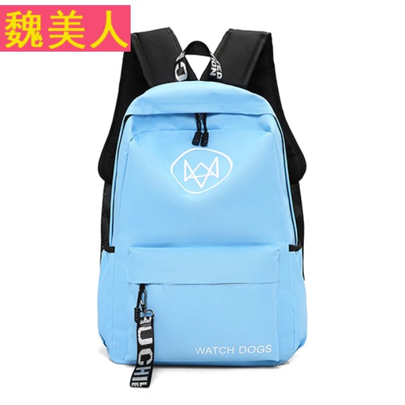 新款双肩包女韩版潮高中学生书包情侣户外休闲电脑背包男士旅行包