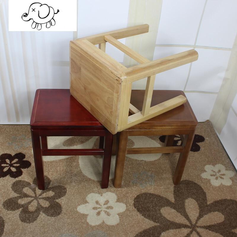 牧马人可叠放凳子实木方凳餐桌凳家用橡木凳板凳时尚创意中式原木凳图片