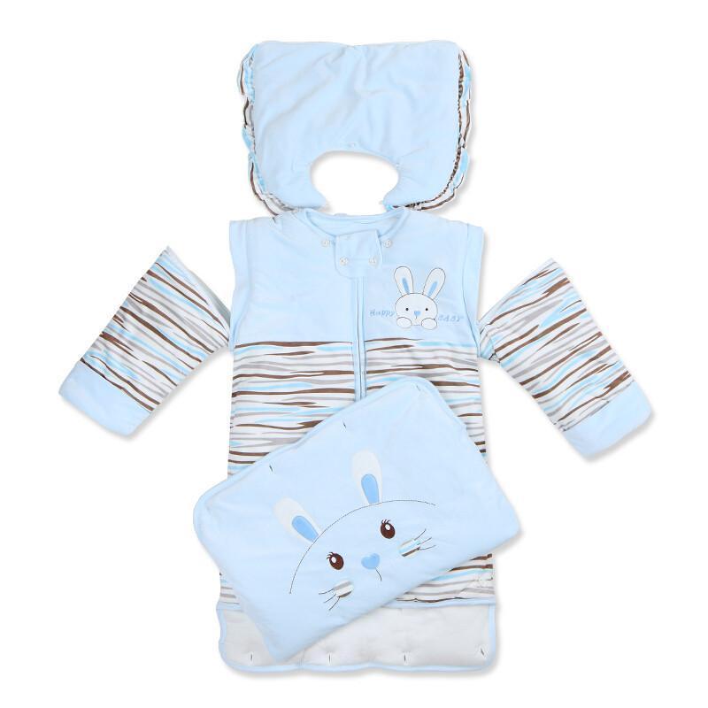 婴儿睡袋冬款宝宝睡袋防踢被子新生儿童睡袋春秋冬季加厚款可拆袖小