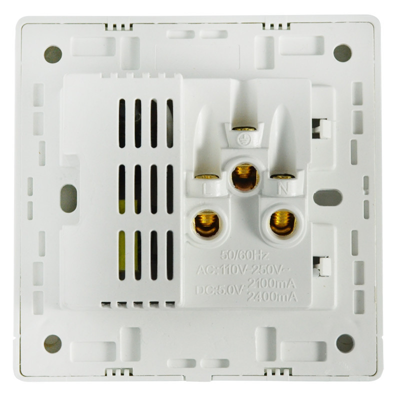 奇胜开关插座面板 双usb五孔插座带开关 二口usb面板手机支架86型暗装