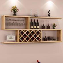 墙上酒柜壁挂式现代简约酒架置物架客厅实木格子墙壁装饰架红酒架