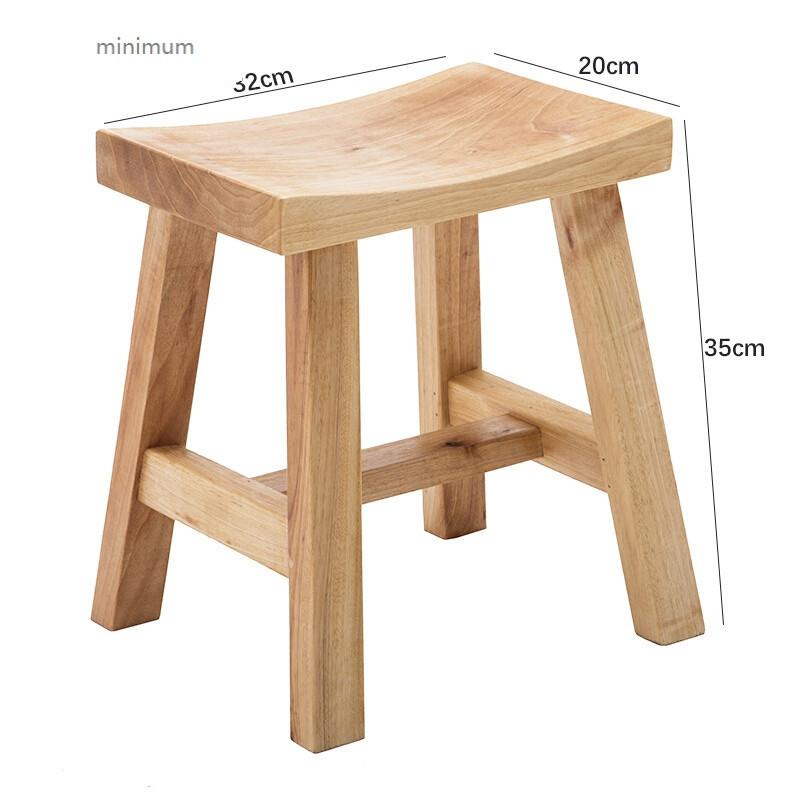minimum 凳子时尚实木创意板凳家用小方儿童凳换鞋凳客厅简约原木餐桌图片