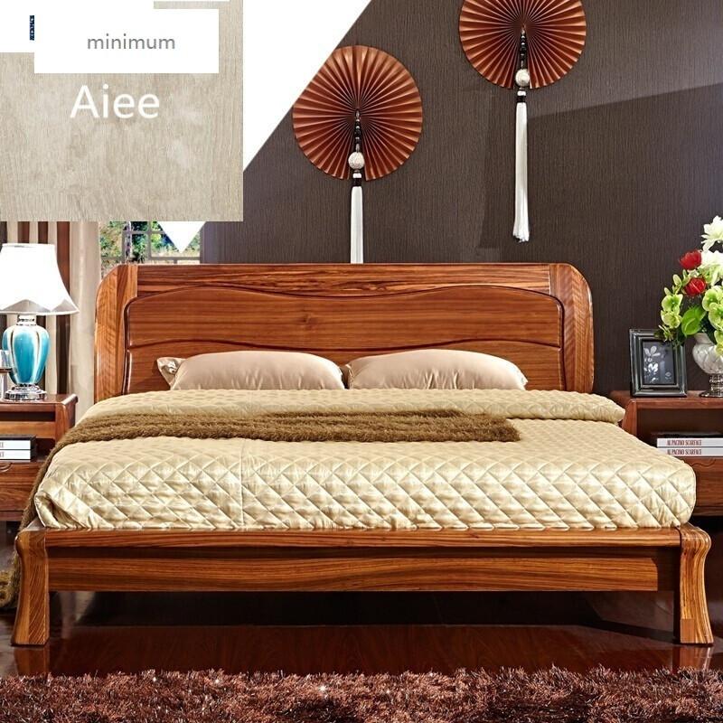 minimum 家具現代新中式實木床雙人床1.8米實木高箱床圖片