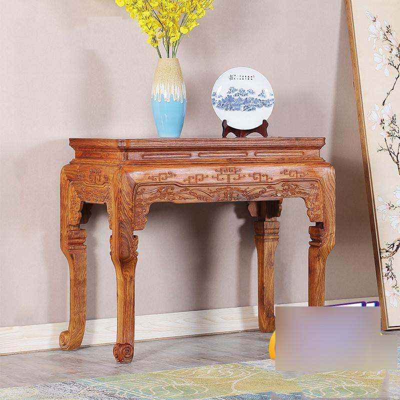爵尼 中式实木供桌供台 雕花玄关台图片