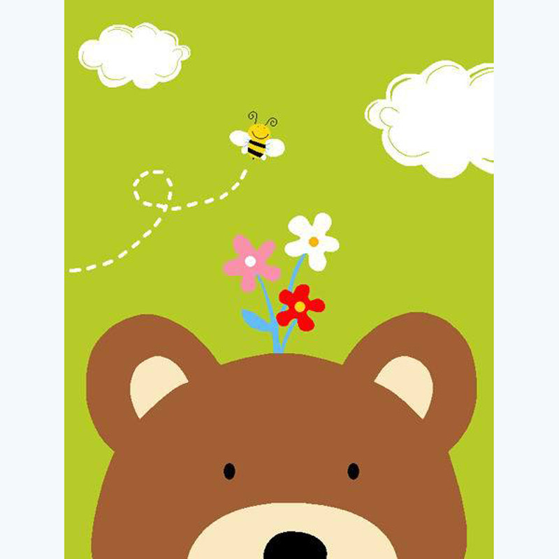儿童地垫长方形卡通地毯超萌动物宝宝爬行垫客厅卧室防滑进门地垫入户