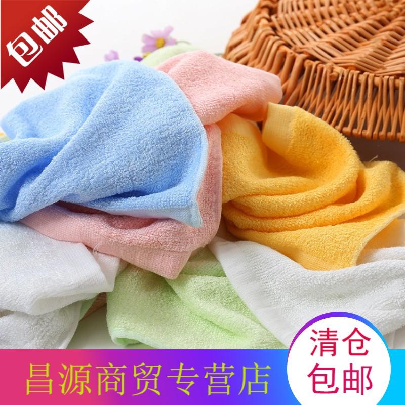幼儿园竹纤维四方巾宝宝小朋友洗脸柔软吸水巾竹碳小毛巾比纯棉好