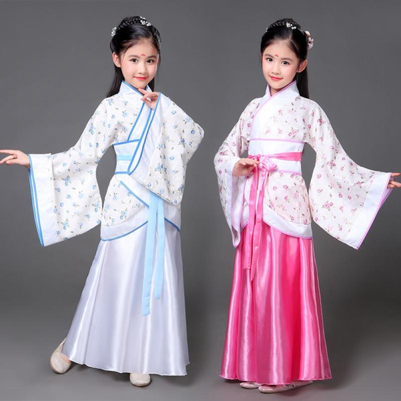 儿童古装仙女装女童唐装公主裙汉服贵妃装摄影写真小孩古典舞服装