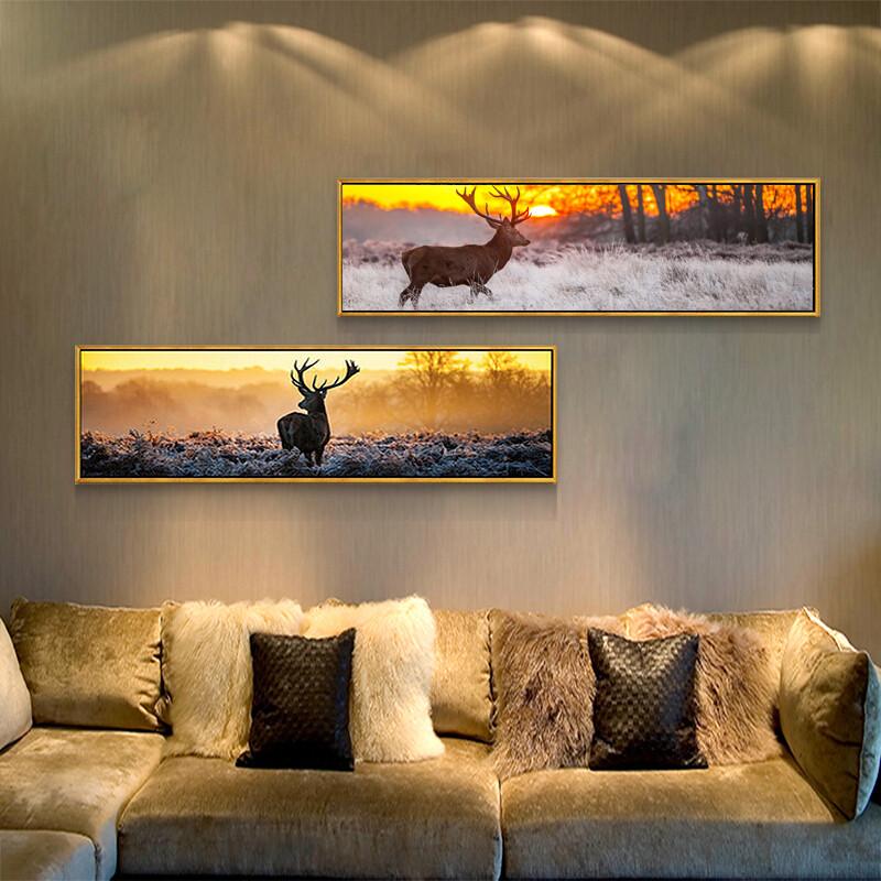 北欧风格客厅装饰画油画沙发背景墙现代简约卧室画床头挂画