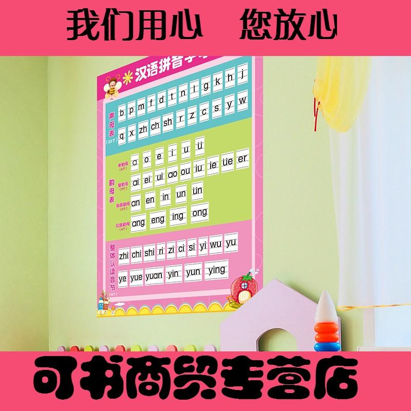 貼紙墻貼畫幼兒園小學墻面裝飾品學校班級布置漢語拼音字母表自粘