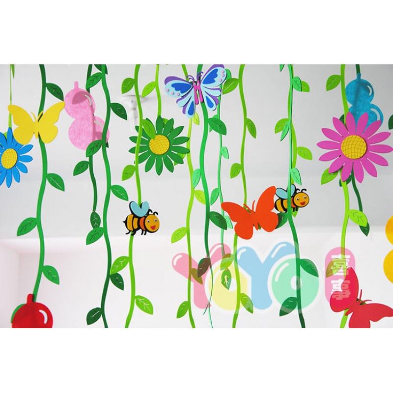 幼儿园环创饰品树枝贴画空中吊饰美术室区角材料儿童个性树枝相框