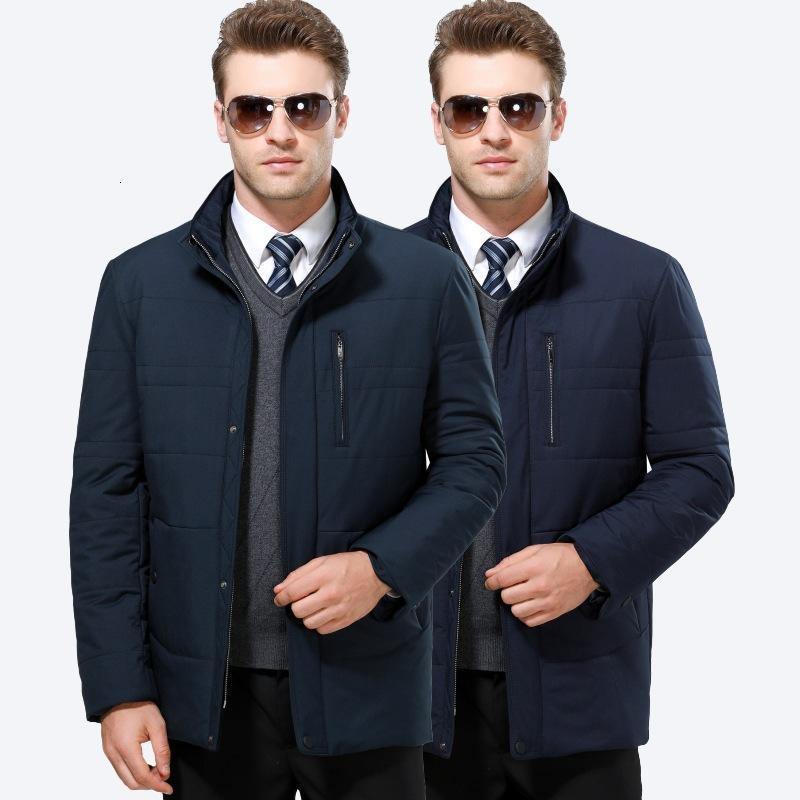 冬天的衣服中青年男式休闲棉衣立领棉服男士简约韩版男装冬季外套