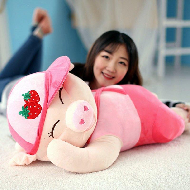 趴趴猪公仔抱枕靠垫毛绒玩具麦兜玩偶可爱睡觉抱娃娃女孩生日礼物