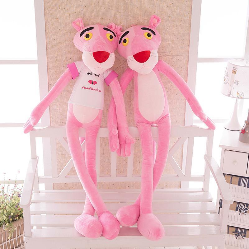 新款热卖卡通粉红豹公仔毛绒玩具顽皮豹可爱布娃娃女生日儿童礼物