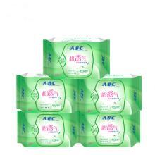 ABC 超吸棉柔茶树系列护垫163mm*25片装共125片 超薄 有香味C01