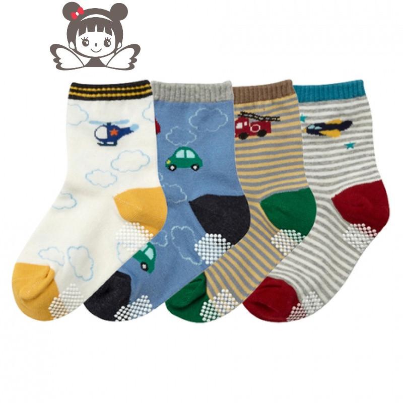 16年新品袜子 全棉男宝宝袜子婴儿防滑袜 可爱卡通儿童袜子