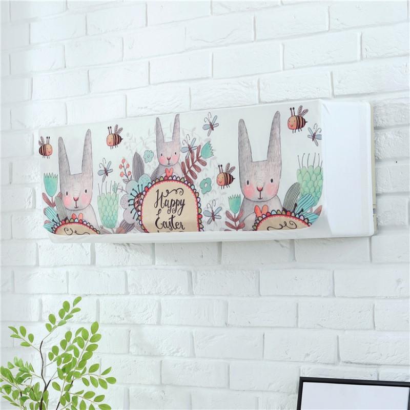 韩式创意家居家挂机布艺空调罩卡通可爱空调装饰罩空调防尘罩