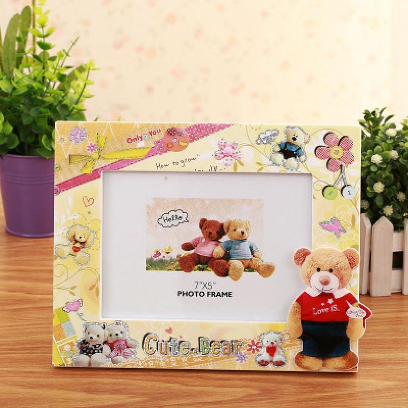 7寸创意卡通儿童相框5r宝宝幼儿园小孩婴儿可爱相架摆台制作