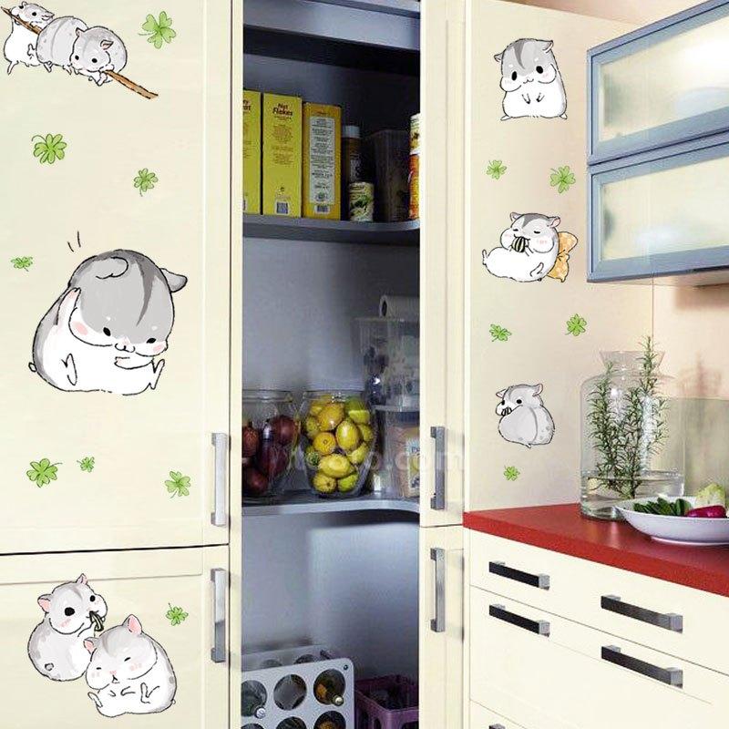 可爱小猫贴纸萌宠随心帖楼梯墙壁卧室橱柜衣柜宠物店墙贴画可移除