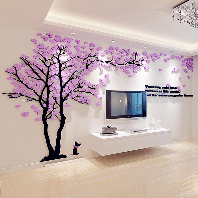 3d立体墙贴亚克力客厅墙壁房间家居装饰品沙发背景墙贴画电视墙画