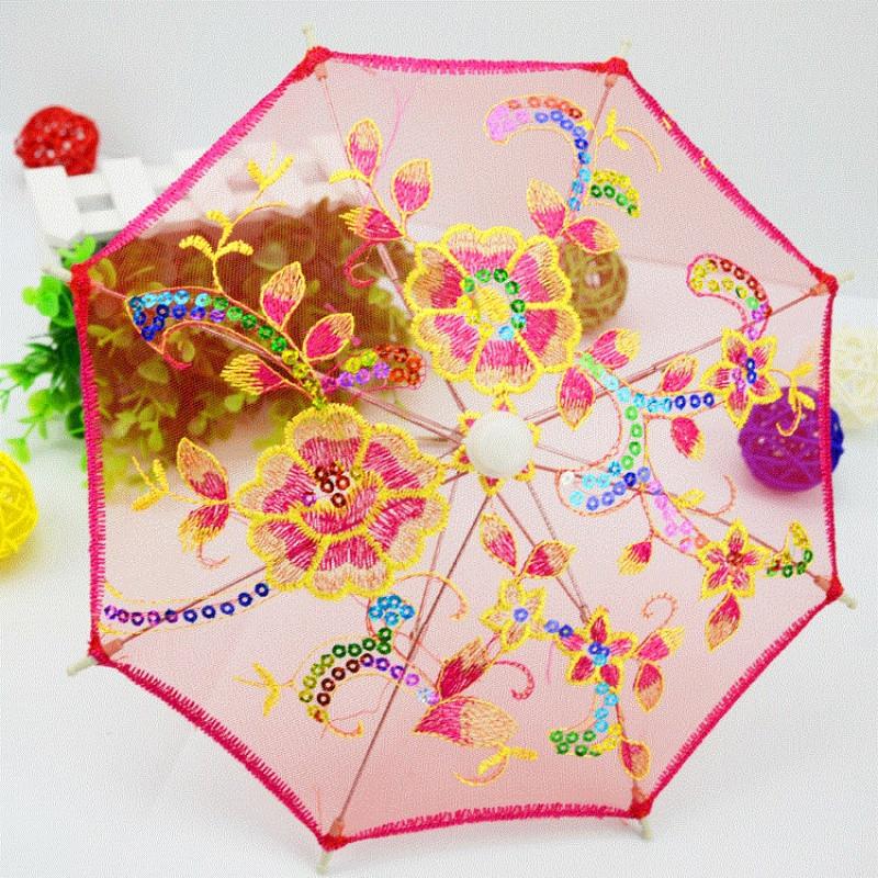 儿童迷你小伞玩具装饰超小雨伞摄影道具蕾丝工艺伞绣花伞