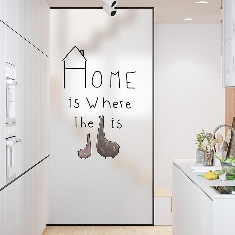 磨砂玻璃贴膜浴室厕所卫生间门透光不透明防透窗户玻璃贴纸