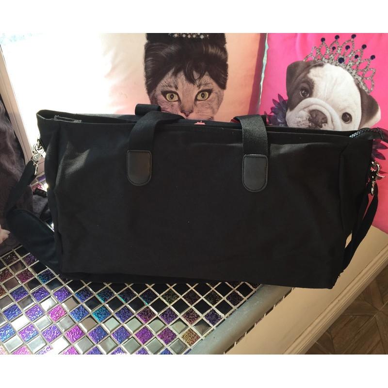 2017新款 韩国韩版枫叶大容量手提包旅行包瑜伽包运动健身包