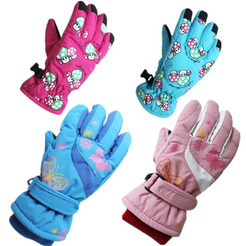 雪花儿童滑雪手套/滑冰手套 儿童手套防风保暖手套/棉图片