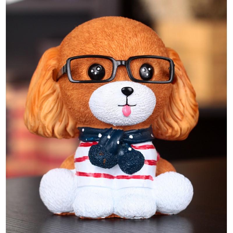 存钱罐创意可爱树脂小狗动物储蓄灌儿童学生男女生日礼物创意
