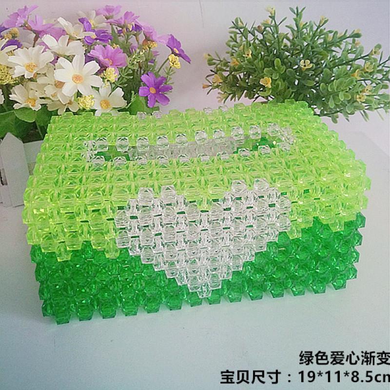 创意手工diy串珠子纸巾盒抽纸盒材料包 编织可爱客厅汽车用载