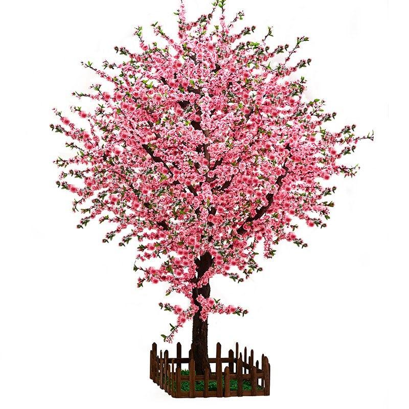 春节桃树仿真桃花树大型室内装饰植物许愿树梅花落地花艺假樱花树