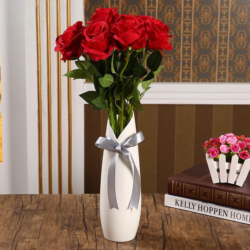 陶瓷花瓶白色现代简约日式可爱风格小号家居家饰时尚创意花器