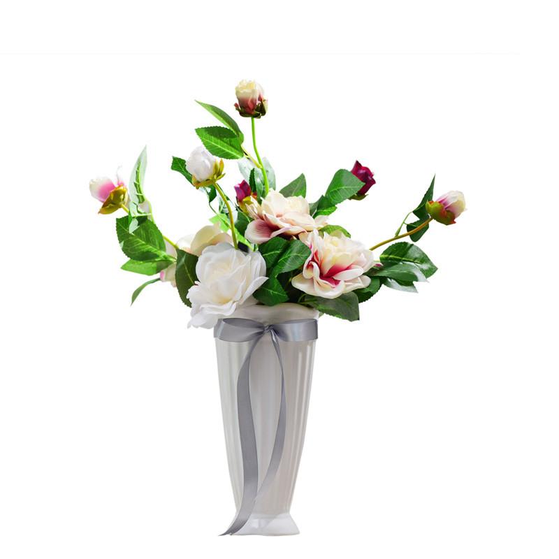 花瓶白色陶瓷现代简约可爱风格小号家居家饰商务花瓶