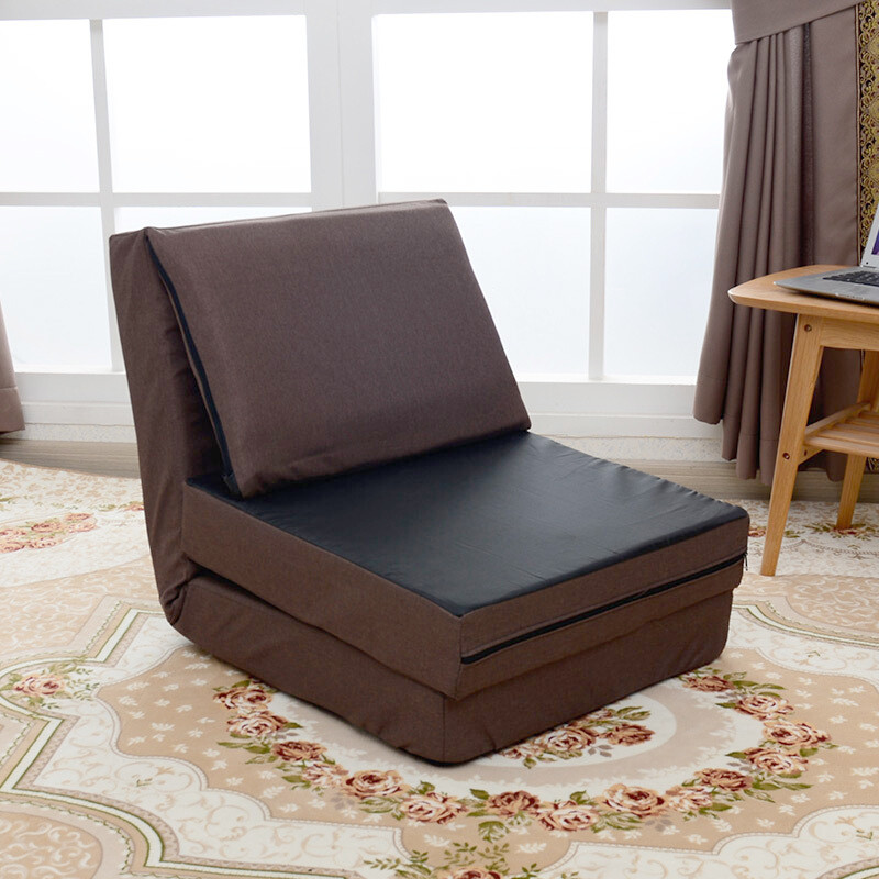 懒人沙发床日式折叠榻榻米沙发多功能布艺单人休闲飘窗躺椅可拆洗