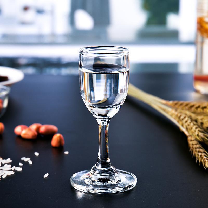 进口玻璃白酒杯小酒杯高脚杯烈酒杯家用酒具一口杯6只图片