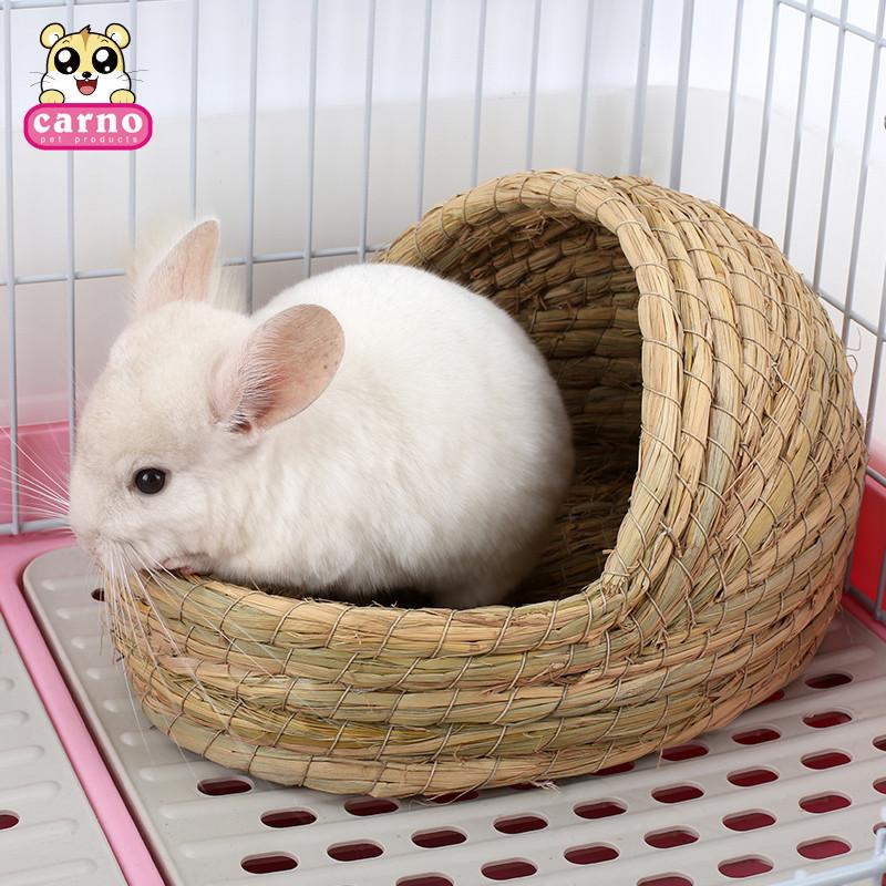 卡诺兔子 草窝豚鼠荷兰猪鸽子窝兔窝拖鞋型编织摇篮草窝