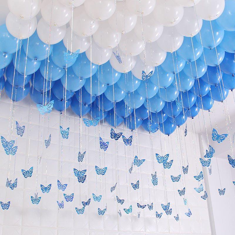 婚房布置生日派对装饰气球爱心形卡片五角星雨丝结婚庆用品