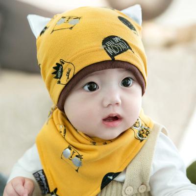 婴儿帽子春秋冬保暖帽新生儿男女宝宝帽0-12个月套头帽韩版婴儿童帽子