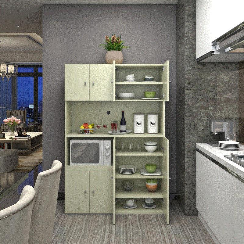 現代簡約儲物柜美式櫥柜餐廳碗柜微波爐柜廚房柜子餐邊柜