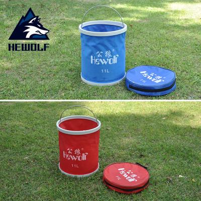 公狼(Hewolf)戶外伸縮水桶折疊水桶釣魚桶11L洗車水桶置物桶1340
