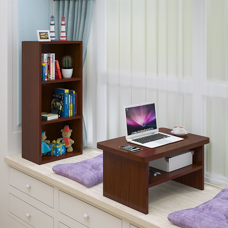 现代飘窗桌子小茶几迷你卧室窗台电脑桌阳台储物柜电脑台组合套装