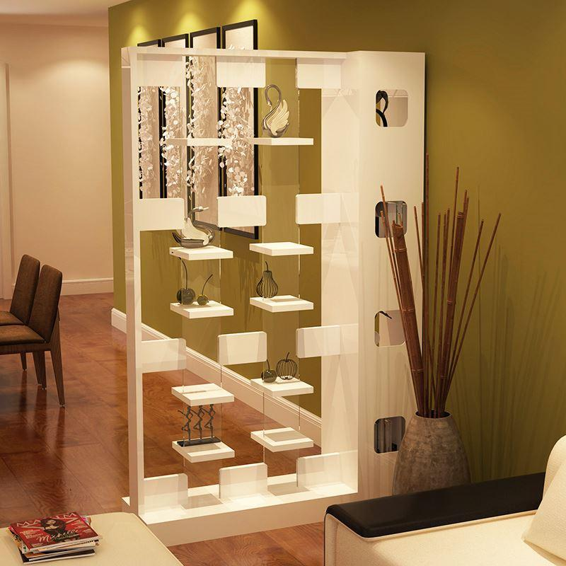 简约现代屏风隔断时尚客厅镂空玄关柜双面门厅柜置物架间厅柜创意