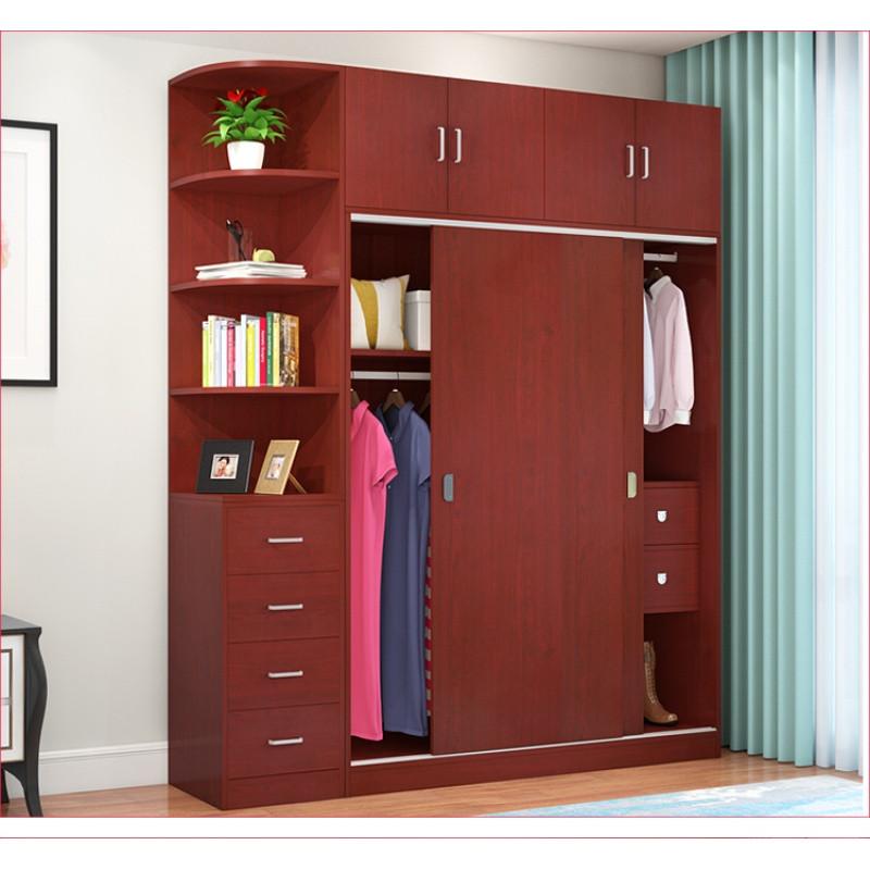 衣柜推拉门简约现代经济型木质整体组装卧室定制成人移门简易衣橱