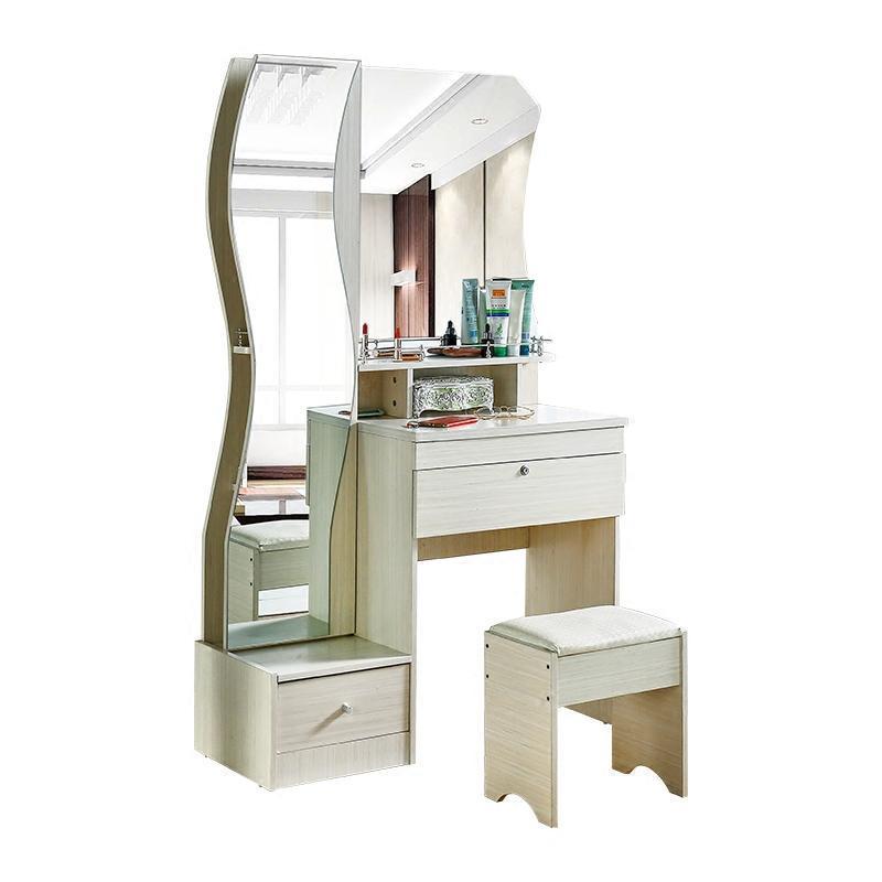 現代簡約梳妝臺臥室小戶型迷你多功能化妝臺時尚穿衣鏡多層儲物柜