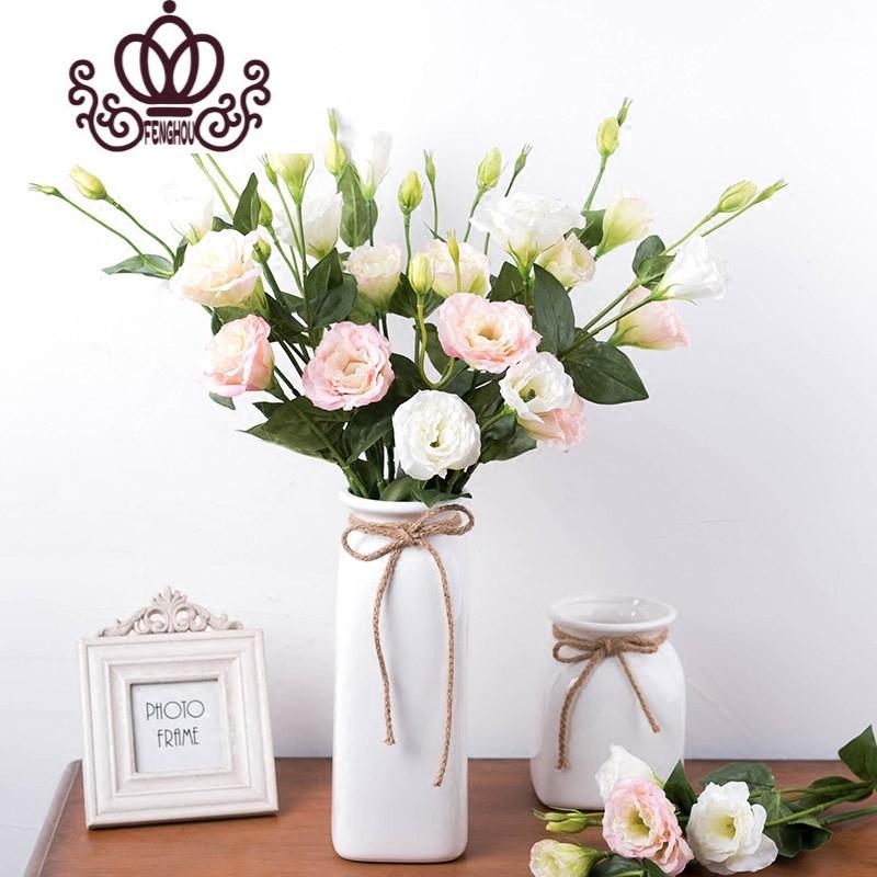 唯美客厅装饰花洋桔梗 仿真花绢花假花 餐桌插花家居摆放花艺
