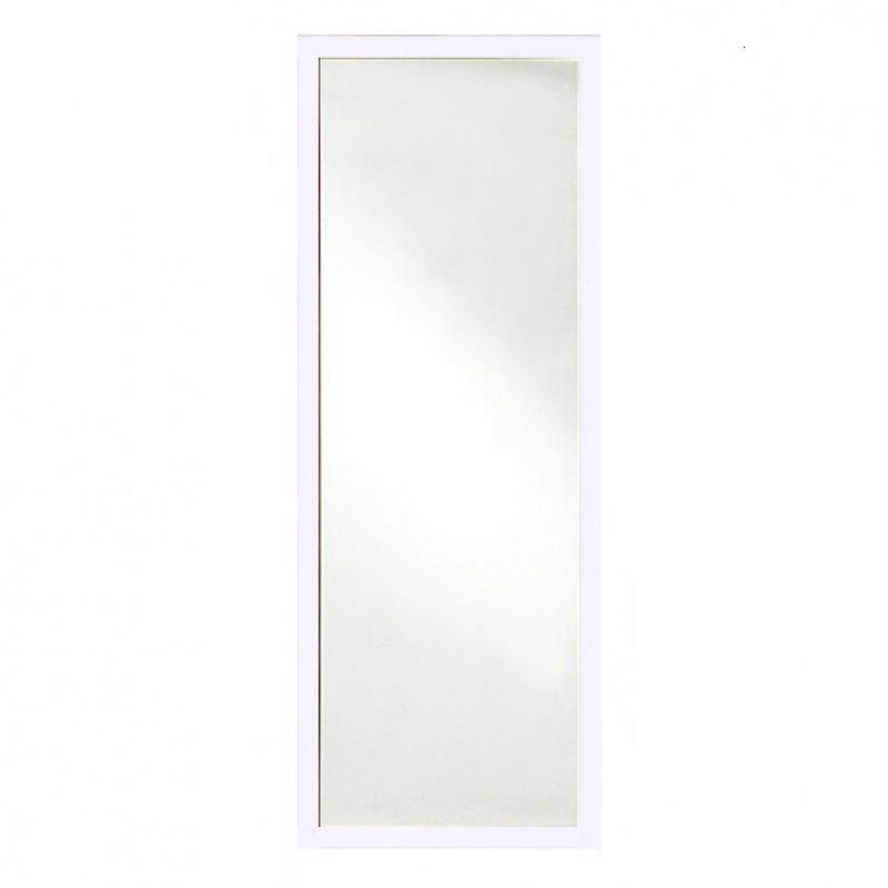 全实木边框现代简约穿衣镜全身试衣镜落地支架悬挂镜子加厚镜片