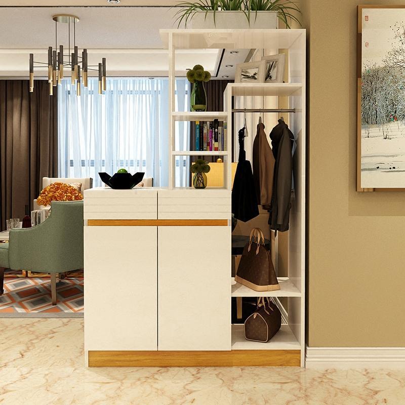 现代简约鞋柜门厅柜烤漆客厅双面玄关隔断柜酒柜屏风柜进门挂衣架